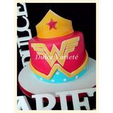 Torta Avengers Mujer Maravilla, Batman, Iron Man, Superman