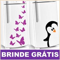 Adesivo Geladeira Decorativos + Brinde Gratis - Decorativo