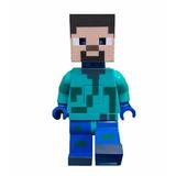Figura Articulada De Steve Brilla Y Emite Sonidos- Minecraft