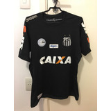 Camisa Goleiro Santos 2017 Kappa Vanderlei 1 Preta Thinkseg 4033bd38a72b0
