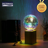 Lampara Led 3d Fireworks Efecto Tridimensional Increible