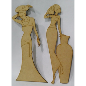 Figuras De Africanas Fibrofacil 20cm 30cm 40cm Mdf
