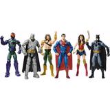 Set De 6 Figuras La Liga De La Justicia Mattel