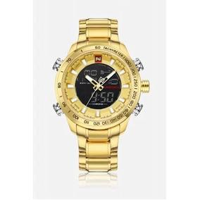 Reloj Militar Naviforce 9093m Dorado