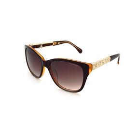 Lentes De Sol Chanel Con Incrustaciones En Oro