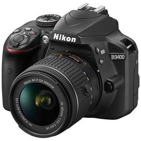 Câmera Nikon D-3400 24.2 Mp Lente 18x55 Vr Kit Preto
