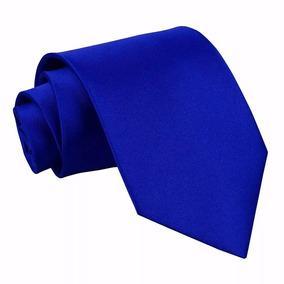 Gravata Slim Azul Royal - Mega Promoção