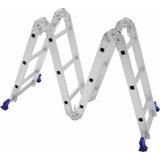 Escada Multifuncional Dobrável Alumínio Multiuso 8 Em 1 Mor