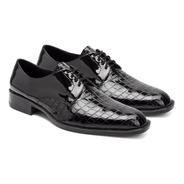 Zapatos Vestir Hombre Croco Y Charol Eco Cuero Cruelty Free