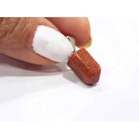 Pingente Pequeno Delicado Pedra Do Sol 15mm Formato Pêndulo
