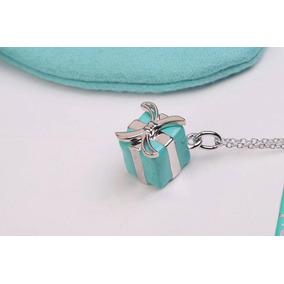 14a178c2666ba Colar Tiffany Blue Box Charm - Joias e Bijuterias no Mercado Livre ...