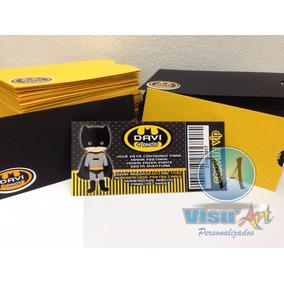 Convite Ingresso Personalizado Com Envelopes E Tag Infantil