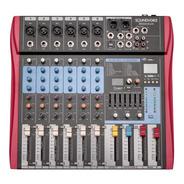 Mesa De Som 6 Canais Xlr Eq Efx Rec Usb Ms602eux Soundvoice
