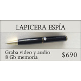 Lapicera Espía Graba Audio Y Video!
