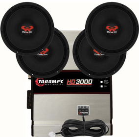 Kit 4 Woofer Ultravox 12 550 Wrms + Modulo Taramps Hd 3000 W
