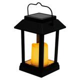 Luminária Solar Jardim Lanterna Chão Parede Luz Amarela