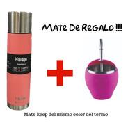 Termo De Acero Inoxidable Keep Tipo Bala 1 Litro + Mate