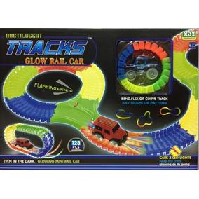 Pista Magnific Tracks Luminosa 128 Pzas Auto Luminoso Simil