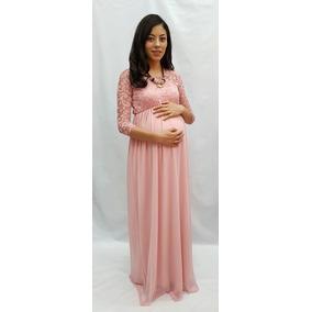 Vestido De Maternidad Formal En Rosa Cuarzo