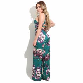 Conjunto 2 Pz Crop Top Pantalon Ropa Stretch Floral Playa La
