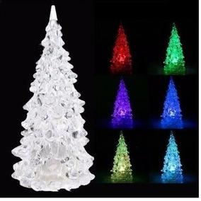 4 Mini Árbol Con Luz Led Multicolor Navidad Recuerdos Adorno
