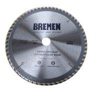 Hoja Sierra Circular 184 Mm 7 1/4 Mdf  Bremen 60d Melamina Terciado Aglomerado Plastico Aluminio