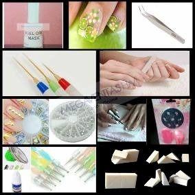 Set 13 Articulos Nail Art Completo Decoracion Uñas Liner