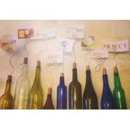 Portaretratos Reciclado De Botella Y Corcho