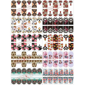 Folha para impresso de adesivos de unha 05 folhas peliculas para folhas prontas de adesivos de unhas com 10 cartelas altavistaventures Image collections
