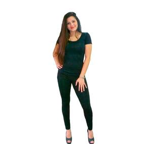 Remera Basica Mujer Pack Siiiiii X 3 Si Si X 3···modal Lycra
