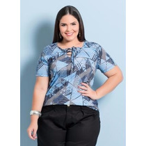 Blusa Plus Size Oncinha Feminina ( Roupa Grandes ) Onça