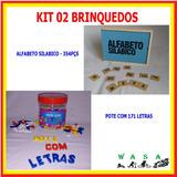 Brinquedos Educativos - Pote Com Letras + Alfabeto Silábico