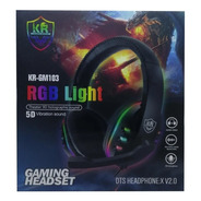 Diadema Audifono Gamer Rgb  Light Usb Microfono Gm103