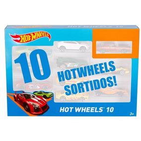Carrinho Hot Whells Com 10 Miniaturas Original Frete Gratis