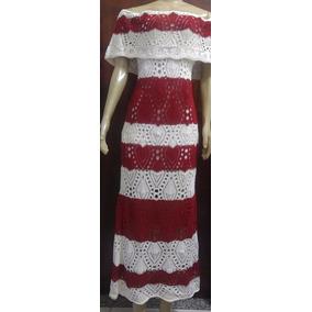 Vestido Longo De Festa/noiva Em Croche Tricot Casamento
