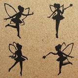 Np Crafts 4 Niños Sellos De Goma Scrapbook Fuente Stamper F