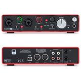 Interfaz De Audio Scarlett 2i4 Mk2 Usb, Focusrite