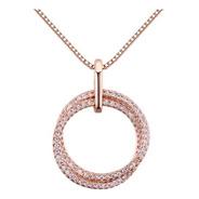 Collar Aro De Chapa De Oro Con Zirconia - 1087