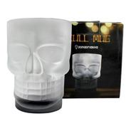Caneca 500ml Caveira Skull Mug Com  Base Preta 3d Formato