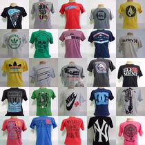 Kit 15 Camisetas Varias Marcas Atacado Revenda Oferta Barato