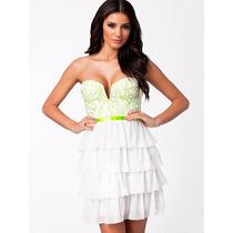 Vestido Corto Blanco En Capas Nelly By Alva Dress