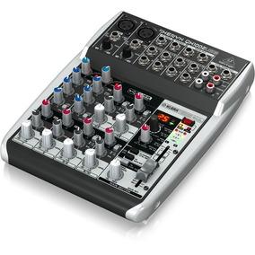 Mesa De Som Mixer Behringer Xenyx Qx1002usb Com 10 Entradas