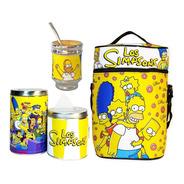 Equipo De Mate Sin Termo Los Simpsons Cuero Set Kit Matero