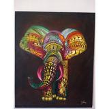 Pintura De Elefante Al Oleo