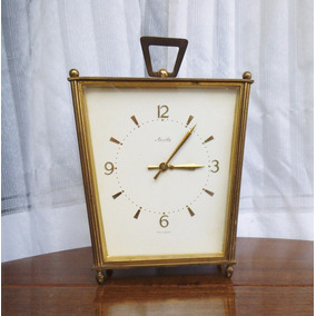 Antiguo Reloj De Mesa Alemán Germany Mauthe Bronce Envíos W