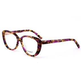 d3234fe88b758 Armação Oculos Grau Feminino Importado Ch52 Acetato Original