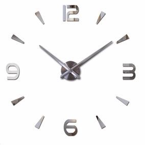 Relógio De Parede Diy 3d Adesivo - Decoração - Grande 90cm