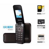 Celular Flip Simples Barato Alcatel 1035d Dual Chip Radio Fm