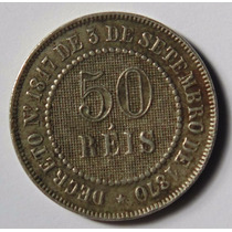 Moeda Antiga 50 Reis 1886, Império,escassa, Mbc++
