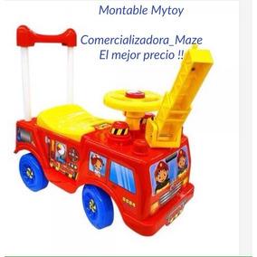 Carro Montable Bombero Claxon Bebe Niño Mytoy El Más Barato